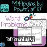 Multiply by 10, 100, and 1000 Word Problems 4th Grade