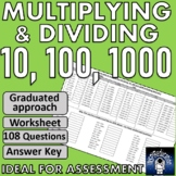 Place Value Multiplying and Dividing by 10, 100 and 1000 -