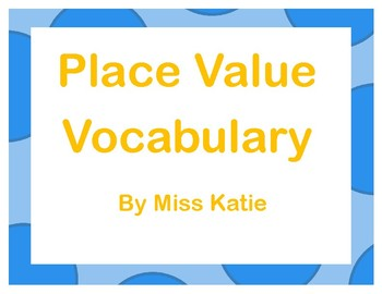 Place Value- My Math 3rd Grade