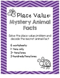 Place Value Worksheets: Mystery Animal Facts