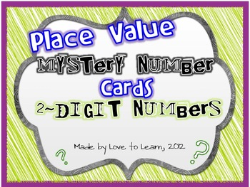 Place Value Mystery Number Cards (2-digit)