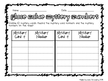 Place Value Mystery Number Cards (5-, 6-, & 7-Digit)