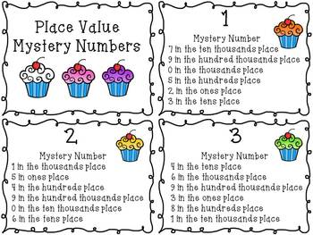 Place Value Mystery Number Math Center