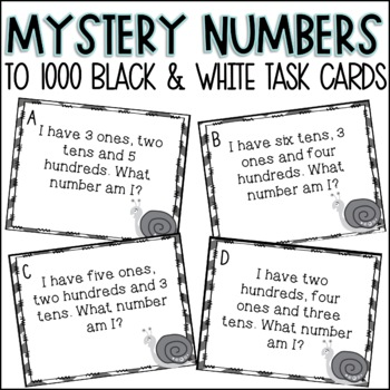 Place Value Mystery Number Task Cards
