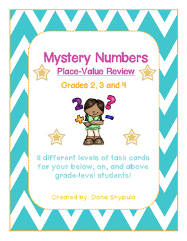 Place Value: Mystery Number Task Cards