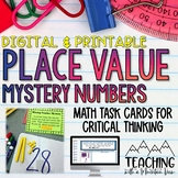 Place Value Mystery Numbers Task Cards