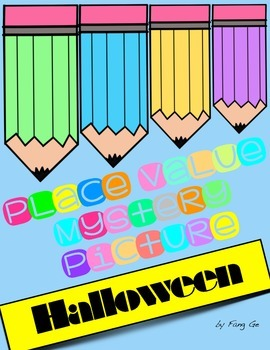 Place Value Mystery Picture - Halloween (Simplified Chinese)