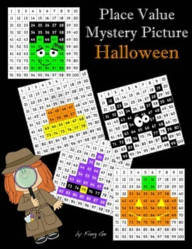 Place Value Mystery Picture - Halloween (Traditional Chinese)