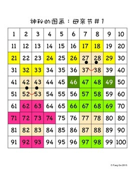 Place Value Mystery Picture - Mother's Day (Simplified Chinese)
