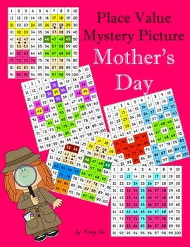 Place Value Mystery Picture - Mother's Day (Traditional Chinese)