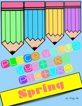 Place Value Mystery Picture - Spring (English)