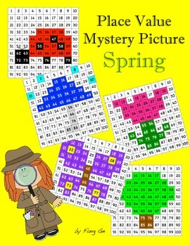Place Value Mystery Picture - Spring (Traditional Chinese)