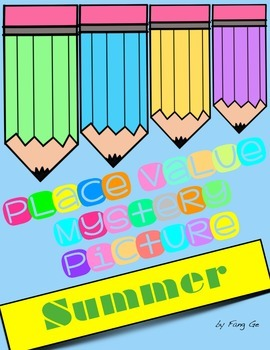 Place Value Mystery Picture - Summer (English)