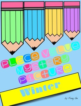 Place Value Mystery Picture - Winter (English)