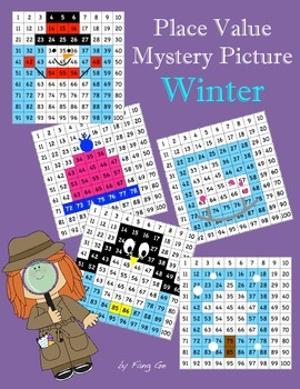 Place Value Mystery Picture - Winter (Traditional Chinese)