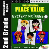 Back To School Math, 2nd Grade Place Value Center Mystery Pictures