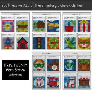 Place Value Mystery Pictures: Engaging Practice with Tens and Ones Place Value