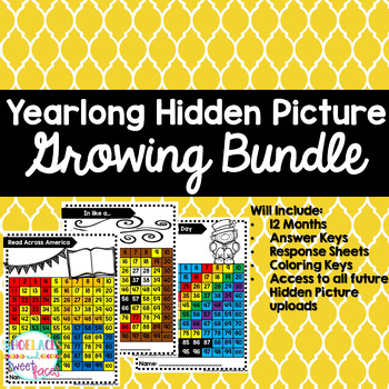 Place Value and More Hidden Pictures - GROWING BUNDLE