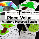 Place Value 100s Chart Color By Number Mystery Picture Puzzles (Bundle)