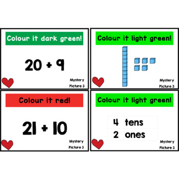 Place Value Mystery Pictures: Valentine's Day (to 100)