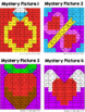 Place Value Mystery Pictures: Valentine's Day (to 1000)