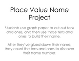 Place Value Name Project