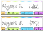 Place Value Name Tags