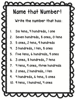 Place Value - Name That Number {FREEBIE}