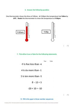 Place Value:  Negative Numbers