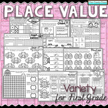 Place Value Worksheets for First Grade (Tens and Ones)