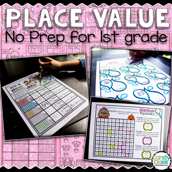 Place Value No Prep Printables for First Grade (Tens and Ones Activities)