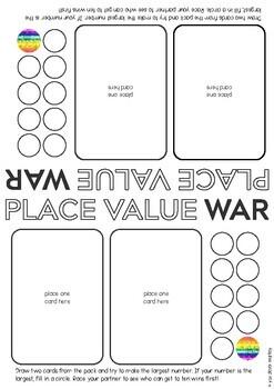 Place Value No-Prep Games