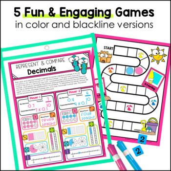 Place Value No Prep Games 4th Grade TEKS by Marvel Math