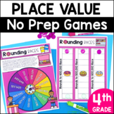 Place Value No Prep Games for the 4th Grade TEKS