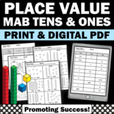 Tens and Ones Activities Place Value Worksheets, 1st Grade Math Review Packet