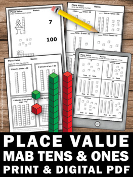 Place Value Worksheets 1st Grade Math Review Packet by ...