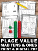 Place Value MAB Tens and Ones Worksheets 1st Grade Special