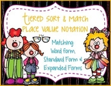 Place Value Notation - Standard and Expanded Form of a Number: Solve and Match