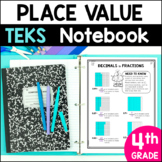 Place Value Notebook 4th Grade TEKS by Marvel Math
