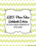 Place Value Notebook Entries