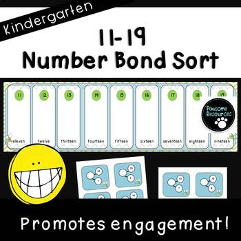 Place Value Number Bond Sort (Kindergarten, K.NBT.1)
