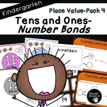 Place Value Number Bonds-Pack 4 (Kindergarten-K.NBT.1)