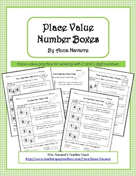 Place Value Number Boxes
