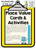 Place Value Number Cards & Activities - NO Decimals!