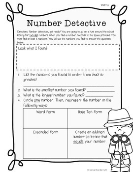 Number Detective - A Place Value Scavenger Hunt