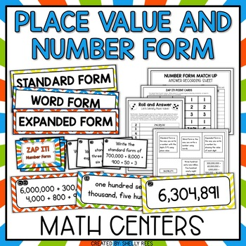 Place Value Games and Number Forms Worksheets