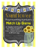 Place Value & Number Form Sunflower Match-Up Game
