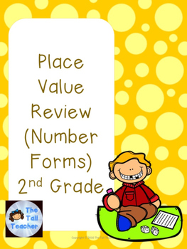 Place Value Number Forms (Expanded, Word Form, Standard, B