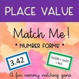Place Value - Number Forms - Match Me!