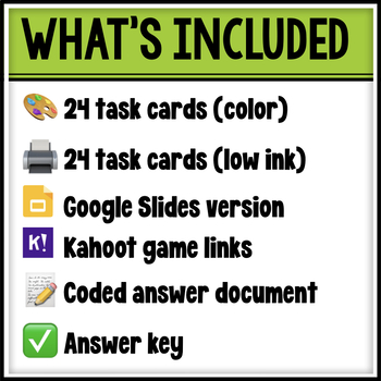 Place Value Number Forms Task Cards with Self-checking Answer Code Document
